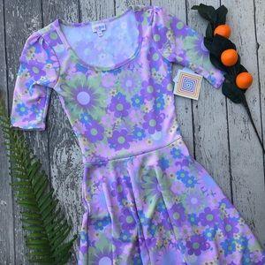 LuLaRoe Purple Floral Amelia Dress